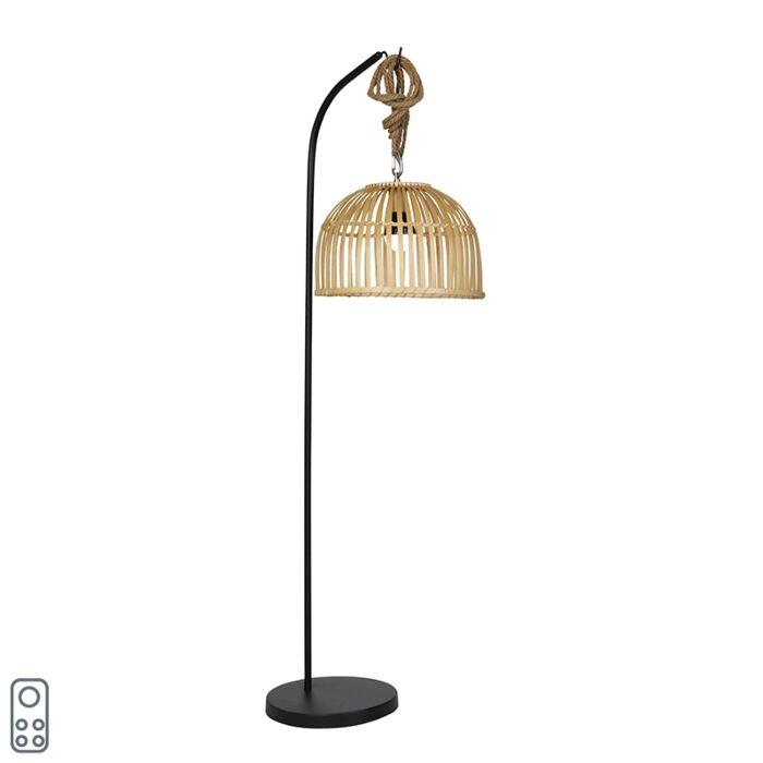 Vanjska-podna-svjetiljka-od-bambusa-IP44-uključujući-LED-RGBW---Mart-Maurice