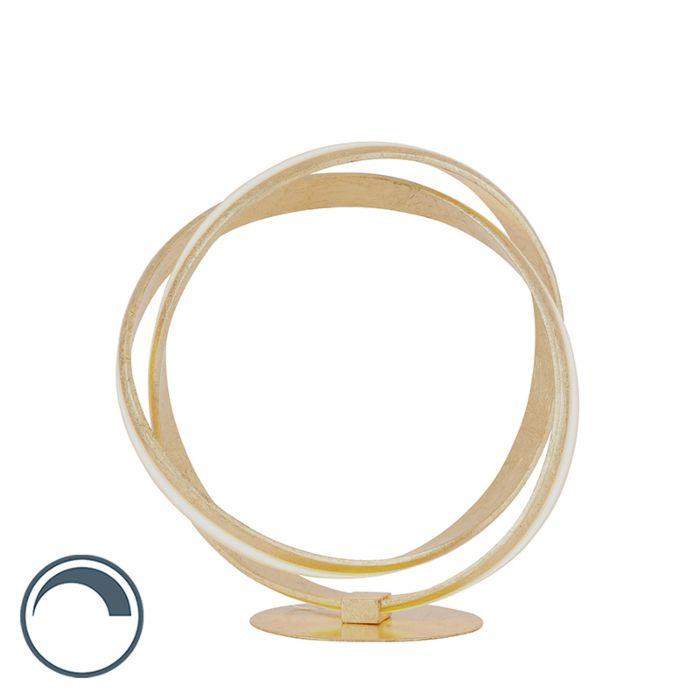 Dizajn-stolne-svjetiljke-zlatne,-uključujući-LED-i-prigušivač---Belinda