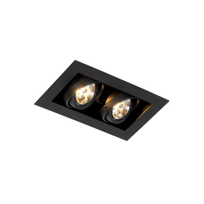 Moderna-ugradbena-spot-crna-podesiva-svjetla-za-2-svjetla---Oneon-70