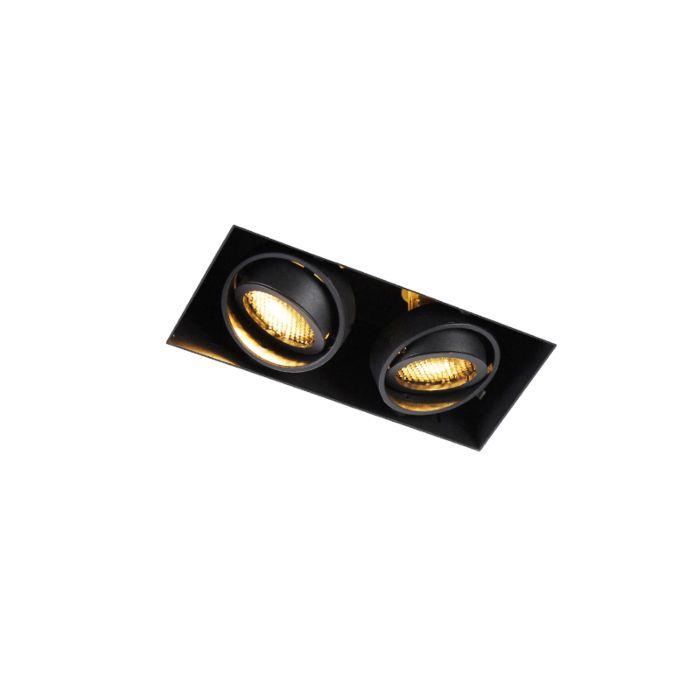 Ugradbena-spot-crna-rotirajuća-i-nagibna-2-svjetla-Trimless---Oneon-Med