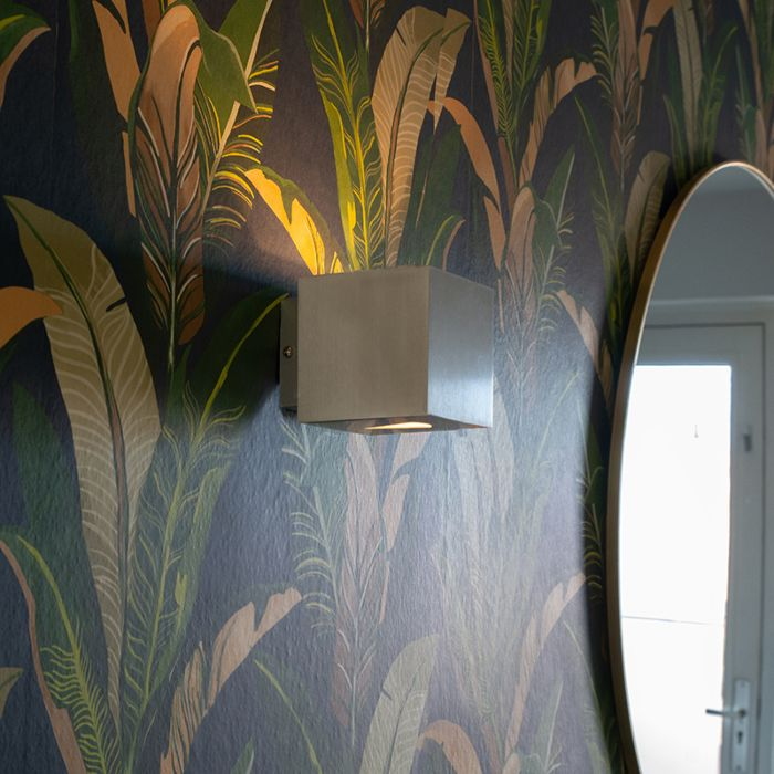 Moderna-zidna-svjetiljka-aluminijski-kvadrat---Efekt