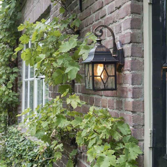 Romantična-vanjska-zidna-svjetiljka-brončana---London