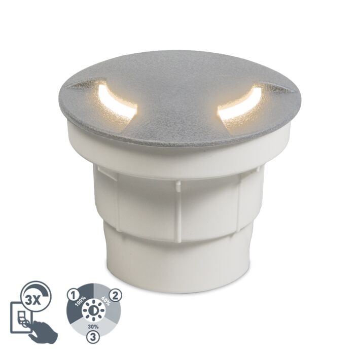 Moderna-vanjska-prizemna-spot-siva-sa-LED-IP67---Ceci-2