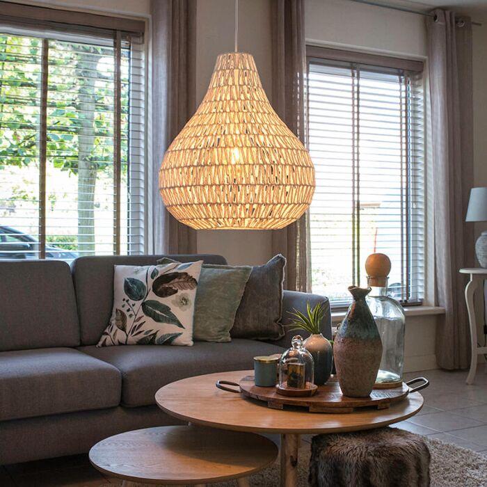 Skandinavska-viseća-svjetiljka-bijela-45-cm---Lina-Drop