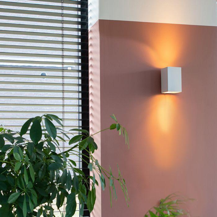 Moderna-zidna-svjetiljka-četvrtasta-bijela---Sandy