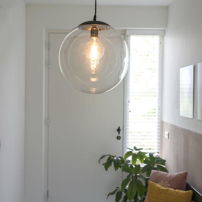 Moderna-viseća-svjetiljka-prozirna-35-cm---Pallon