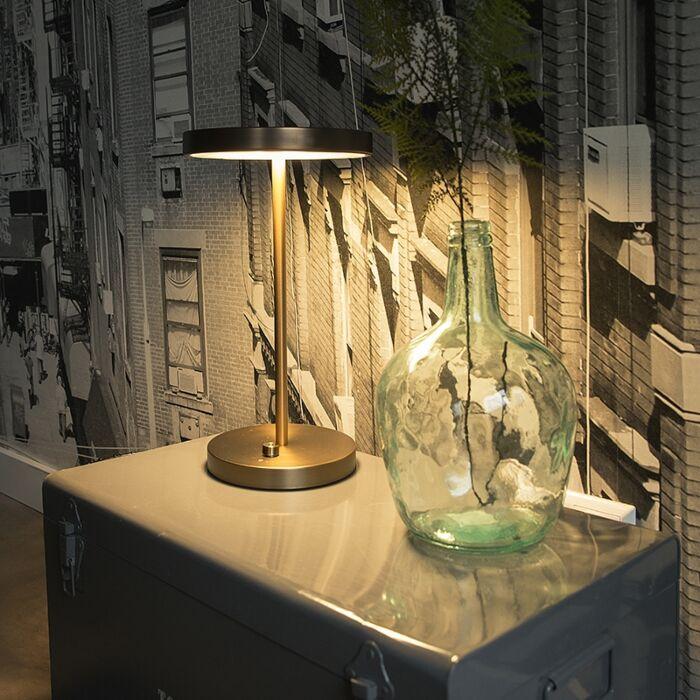 Moderna-stolna-svjetiljka-brončana-sa-LED---Disco