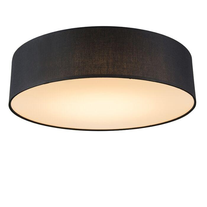 Stropna-svjetiljka-crna-40-cm,-uključujući-LED---LED-bubanj