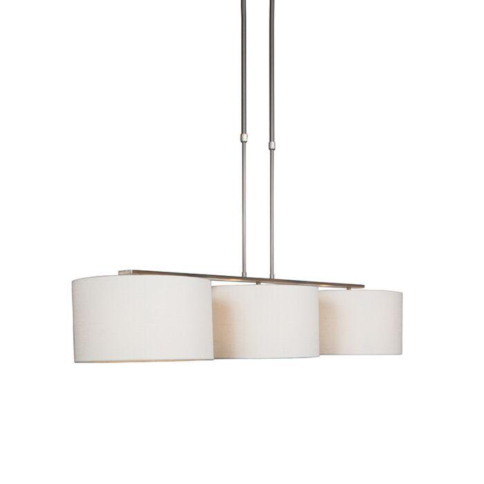 Moderna-viseća-svjetiljka-od-čelika-s-bijelom-hladom---Combi-3-Deluxe