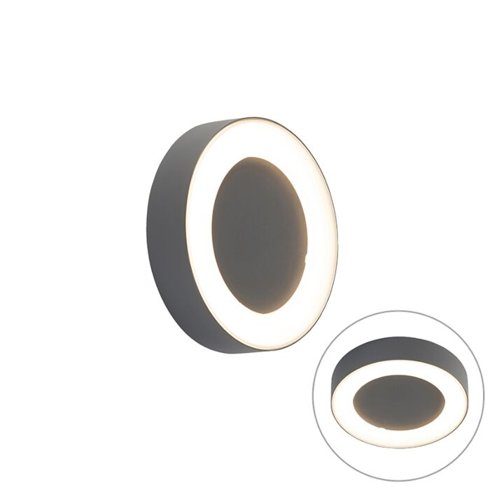Zidna-i-stropna-svjetiljka-siva-okrugla-IP54---Ariel