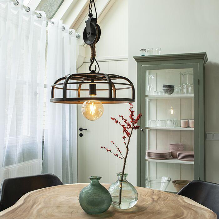 Industrijska-viseća-svjetiljka-crni-čelik---Camelot