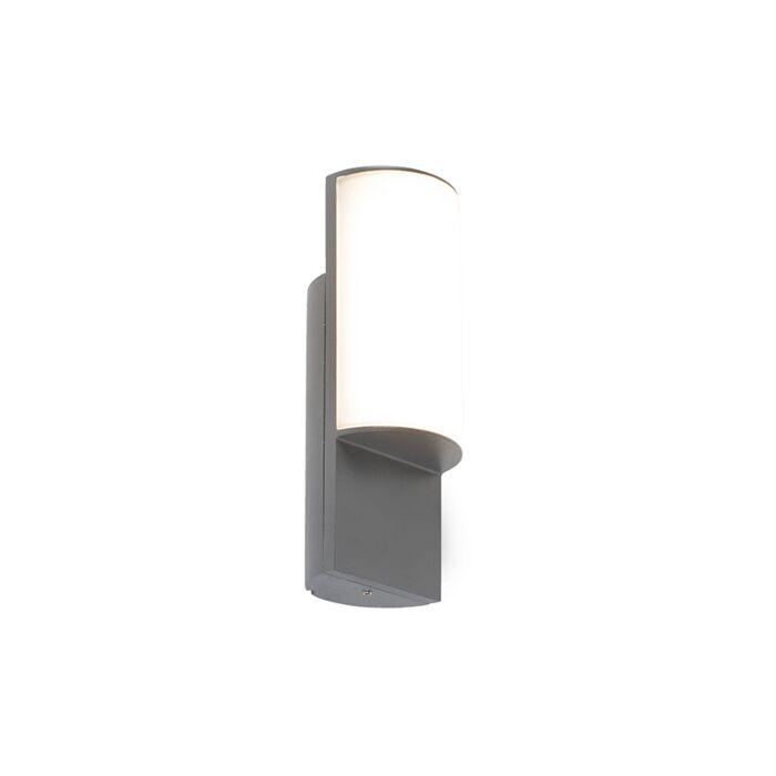Moderna-vanjska-zidna-svjetiljka-tamno-siva-s-LED---Harry