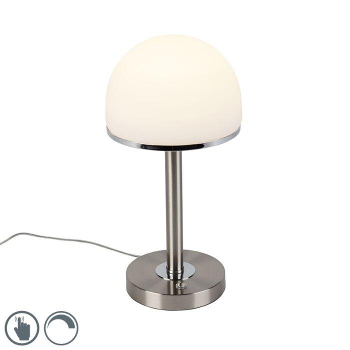 Vintage-stolna-svjetiljka,-čelik-s-LED-i-dodirnom-pločicom---Bauhaus