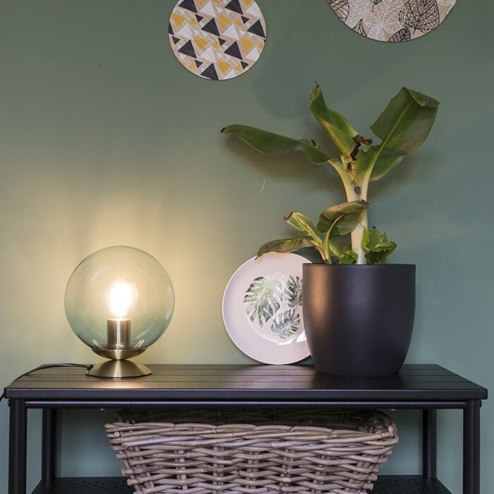 Art-deco-stolna-svjetiljka-mesing-s-plavim-staklom---Pallon