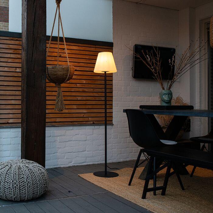 Moderna-vanjska-podna-svjetiljka-crna---Virginia