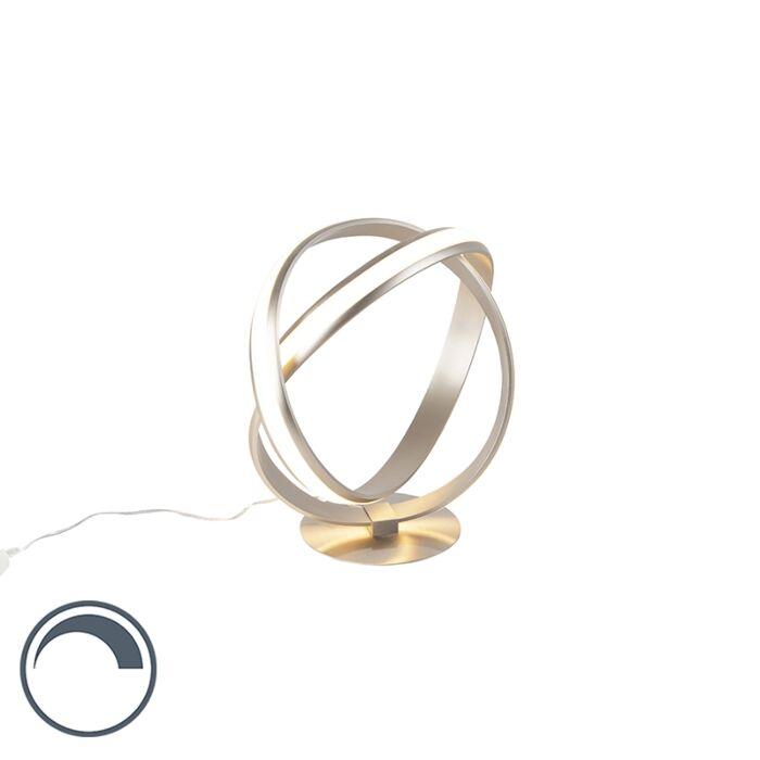 Moderna-okrugla-stolna-svjetiljka-čelična-LED-s-prigušivačem---Belinda