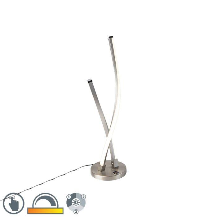 Dizajn-stolne-svjetiljke,-čelik-s-LED-i-prigušivačem-na-dodir---Paulina