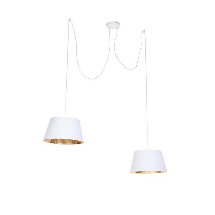 Moderna-viseća-svjetiljka-bijela---Uzvišena