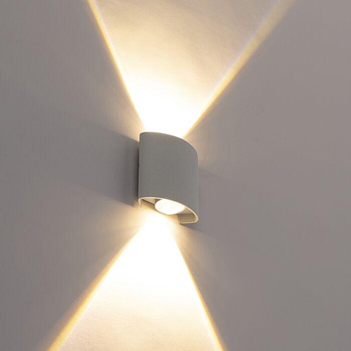 Dizajn-vanjska-zidna-svjetiljka,-srebrna,-uključujući-LED-svjetla-s-2-svjetla---Silly