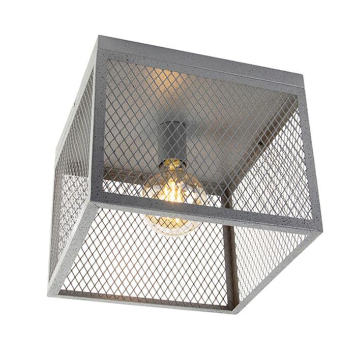 Industrijska-stropna-svjetiljka-starinsko-srebrna---Cage-Robusto